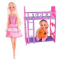 """Набор кукол Барби """"Спокойной ночи малыш"""" (+ кроватка и ребенок) 28 см Ася"""