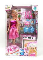 """Кукла Барби блондинка """"Я люблю готовить"""" (+ кухонные приборы) 28 см Ася"""