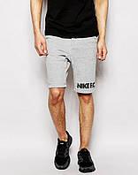 Шорты Найк ( в стиле Nike ( Найк ) ) серые мужские трикотажные