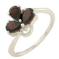Серебряное кольцо ShineSilver с натуральным гранатом (0562933) 18 размер