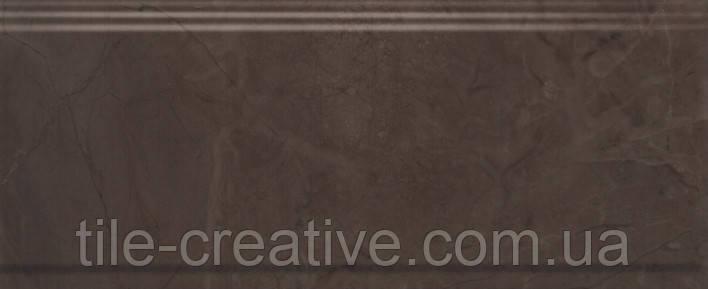 Керамическая плитка Бордюр Версаль коричневый обрезной 30х12х13 BDA008R