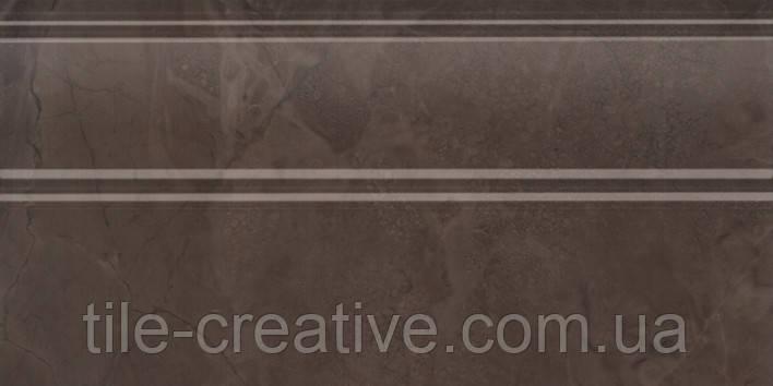Керамічна плитка Плінтус Версаль коричневий обрізний 30х15х17 FMA017R