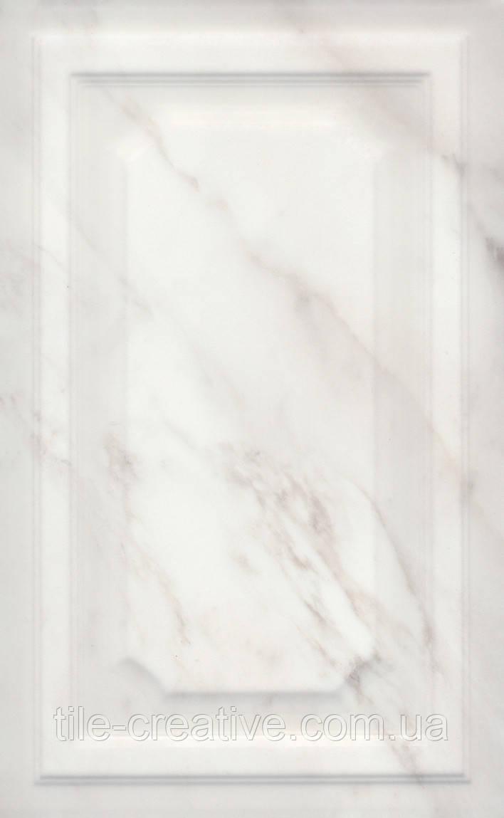 Керамическая плитка Гран Пале белый панель 25х40х8 6357