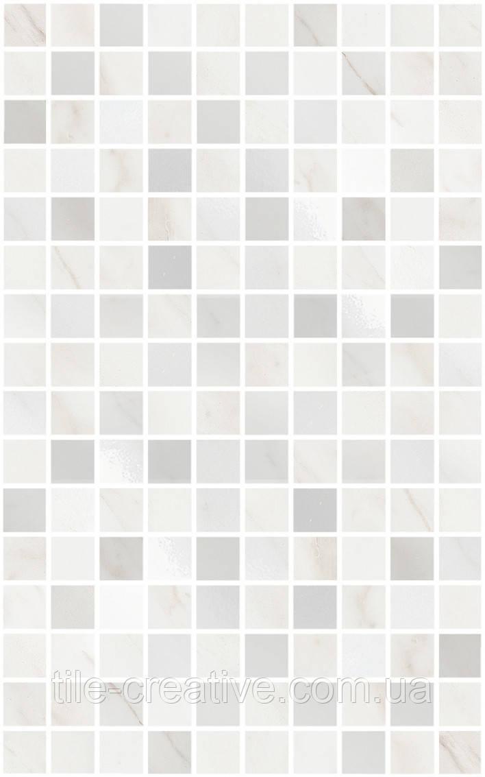 Керамическая плитка Декор Гран Пале белый мозаичный 25х40х8 MM6359