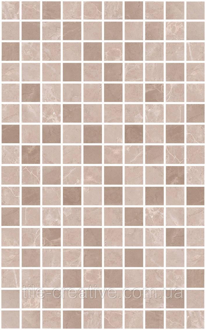 Керамическая плитка Декор Гран Пале беж мозаичный 25х40х8 MM6360