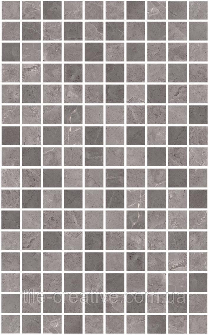 Керамічна плитка Декор Гран Пале сірий мозаїчний 25х40х8 MM6361