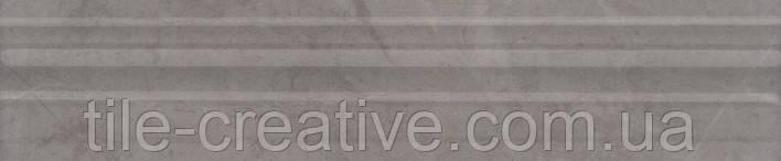 Керамическая плитка Бордюр Багет Гран Пале серый 25х5,5х18 BLE008