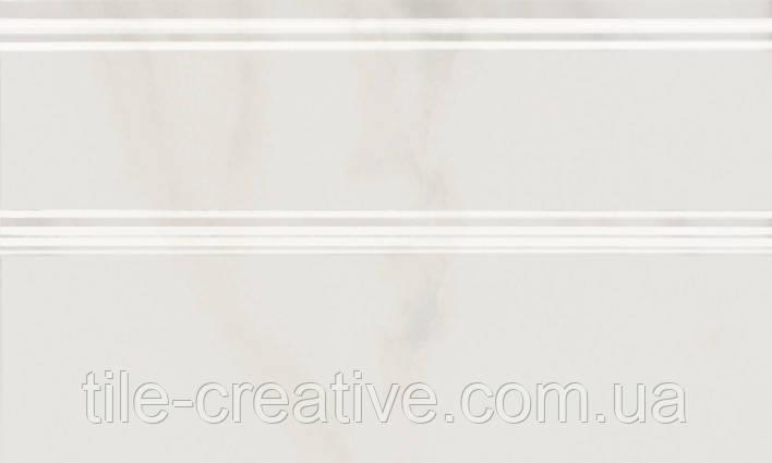 Керамическая плитка Плинтус Гран Пале белый 25х15х15 FMB009