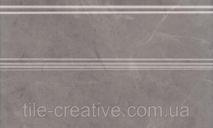 Керамическая плитка Плинтус Гран Пале серый 25х15х15 FMB011