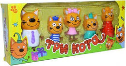 """Игровой набор """"Три кота"""" (5 штук в наборе) для малышей"""