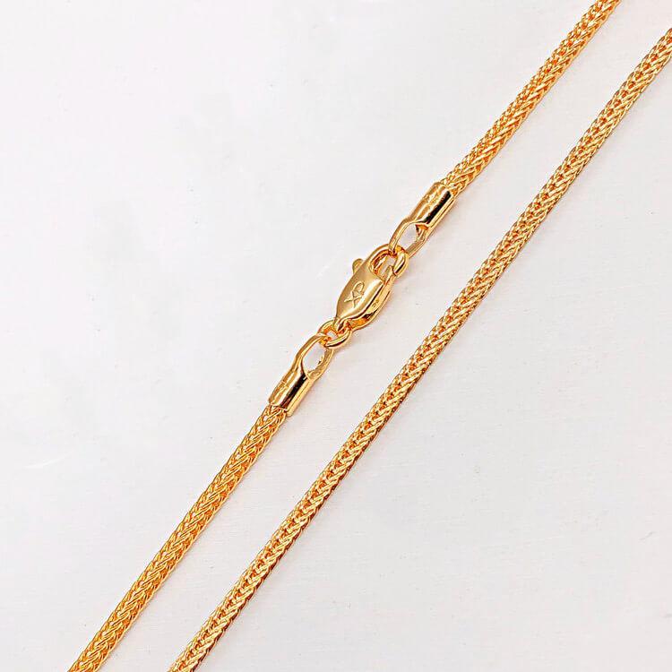 Цепочка Xuping Jewelry 50 см х 2 мм Персидская ночь медицинское золото позолота 18К