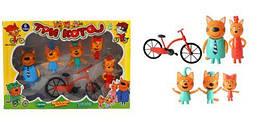 """Игровой набор """"Три кота с велосипедом"""""""