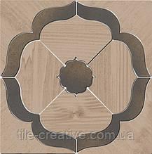 Керамический гранит Декор Гранд Вуд наборный 19,6х19,6х11 ID86