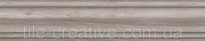 Керамический гранит Плинтус Колор Вуд серый 39,8х8х15,5 DD7323\BTG