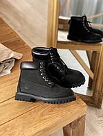 Мужские ботинки Timberland 6 Inch Premium black демисезон, чёрные. Размеры (36,37,38,39,40,41,42,43,44,45)