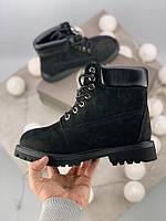 Женские ботинки Timberland 6 Inch Premium black (на меху) зима, чёрные. Размеры (37,40,43,45), фото 1