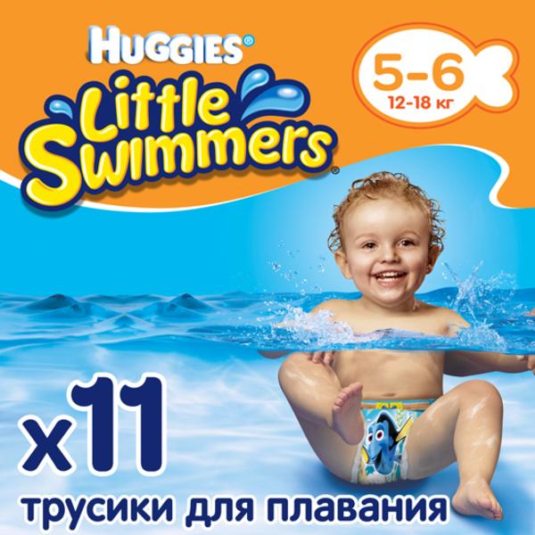Трусики-підгузники для плавання Huggies Little Swimmers 5-6 (12-18 кг), 11 шт.