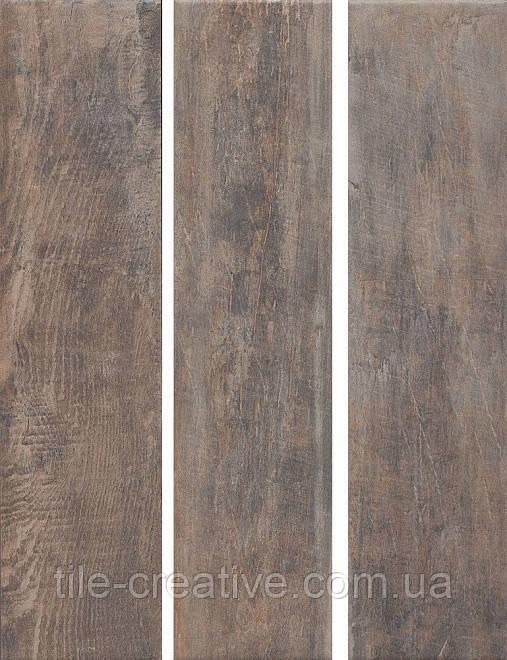Керамический гранит Браш Вуд коричневый темный 9,9х40,2х8 SG401300N