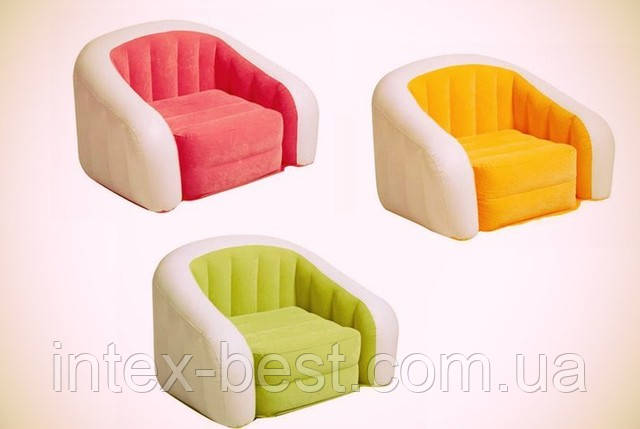 Надувное кресло Intex 68571 Cafe Club Chair Зелёное (97x76x69 см.), фото 2