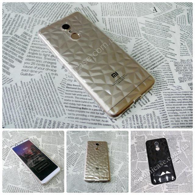Силиконовый чехол Crystal для Xiaomi (Ксиоми) Redmi 5 Plus (прозрачный и черный)