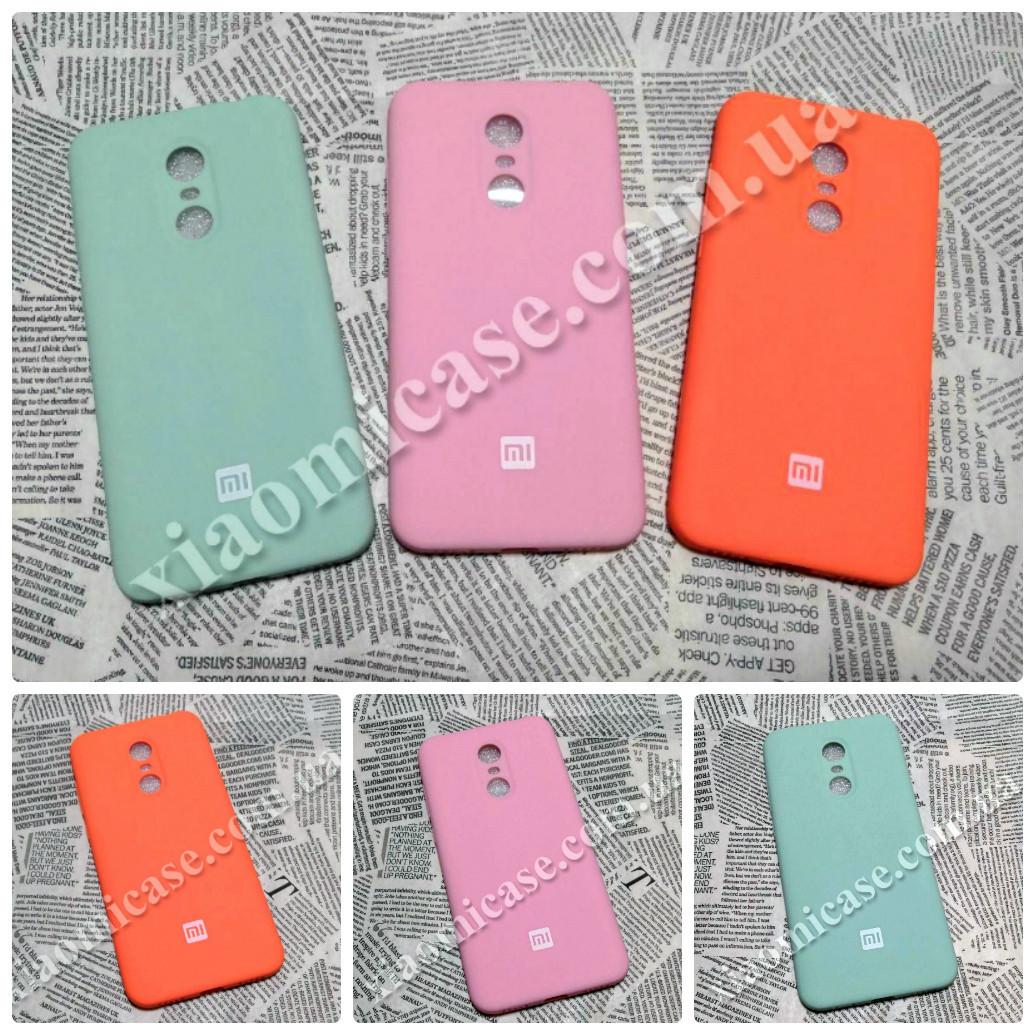 TPU чехол Smitt Brand накладка бампер для Xiaomi (Ксиоми) RedMi 5 Plus (Розовый и Бирюзовый)