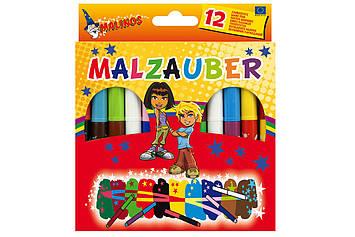 Чарівні фломастери, що змінюють колір MALINOS Malzauber 12 (10 + 2) шт