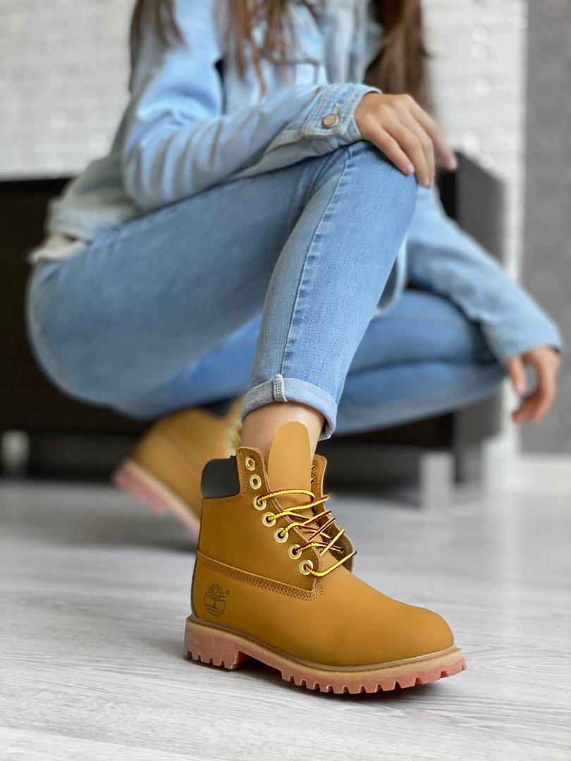 Мужские ботинки Timberland Premium Brown (термо) осень/зима, коричневые. Размеры (36,37,38,39,40,41,42,43,44)