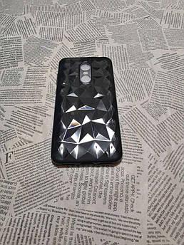Силиконовый чехол Crystal для Xiaomi (Ксиоми) Redmi 5 Plus (черный)