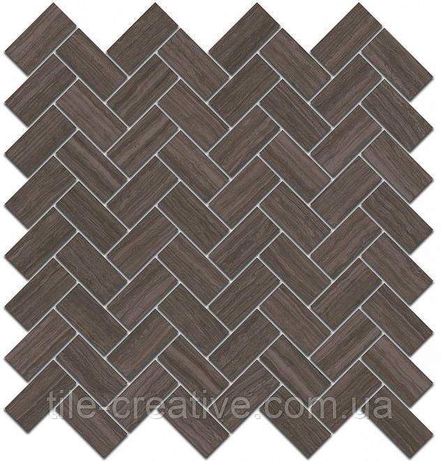 Керамічна плитка Декор Грассі коричневий мозаїчний 31,5х30х11 SG190\003