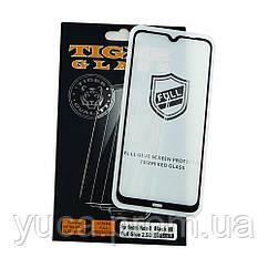 Защитное стекло TigerGlass для XIAOMI Redmi Note 8 Full Glue (0.3 мм, 2.5D, чёрное)