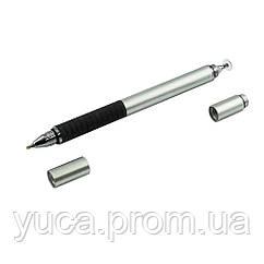 Стилус ёмкостный, высокоточный, Jot Pro , с капиллярной ручкой, алюминиевый, серебристый
