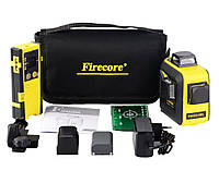 ☀ЗЕЛЕНЫЙ ЛУЧ⇒50м☀Лазерный уровень Firecore F93T XG + ПРИЕМНИК ДО 150 МЕТРОВ