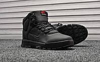 Мужские кроссовки Nike Nevist Triple Black Winter зимние (на меху), чёрные. Размеры (41,42,44), фото 1