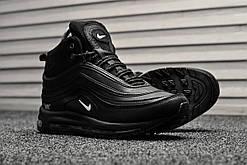 Кроссовки мужские Nike Air Max 97 Black Winter (на меху), чёрные. Размеры (43,44,46)