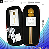 Беспроводной микрофон для караоке Q9 Золотой - портативный караоке-микрофон  в чехле, фото 4
