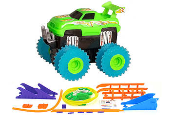 Машинка на бат. Trix Trux набір з трасою (зелений)
