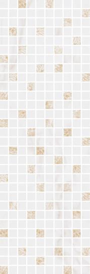 Керамическая плитка Декор Астория белый мозаичный 25х75х9 MM12112