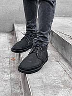 Мужские UGG Neumel Black, замша чёрные. Размеры (41,42,43,44), фото 1