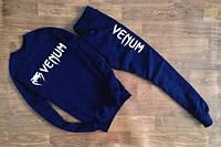 Мужской синий костюм в стиле VENUM белое лого