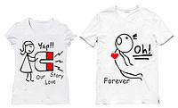 Парные футболки Love Story