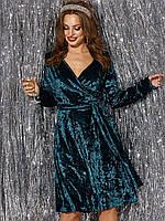 Коктейльное платье женское из мраморного велюра