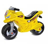 Детский беговел-мотоцикл Орион 2-х колесный музыкальный 501Y Желтый