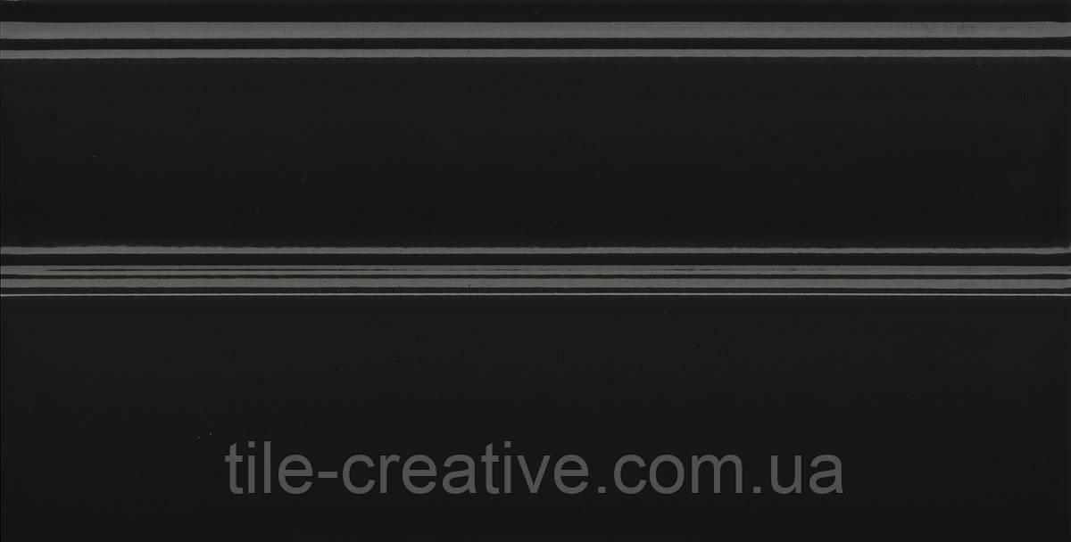Керамическая плитка Плинтус Даниэли чёрный обрезной 30х15х17 FMA010R