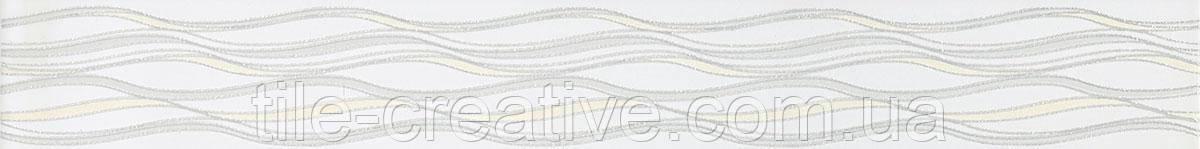 Керамическая плитка Бордюр Линьяно Подснежники 50х6,3х8 OP\A04\7071T