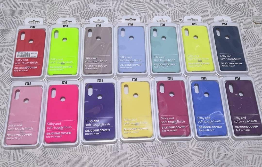 Брендовый Soft-touch чехолSilicone Cover для Xiaomi (Ксиоми) Redmi Note 7