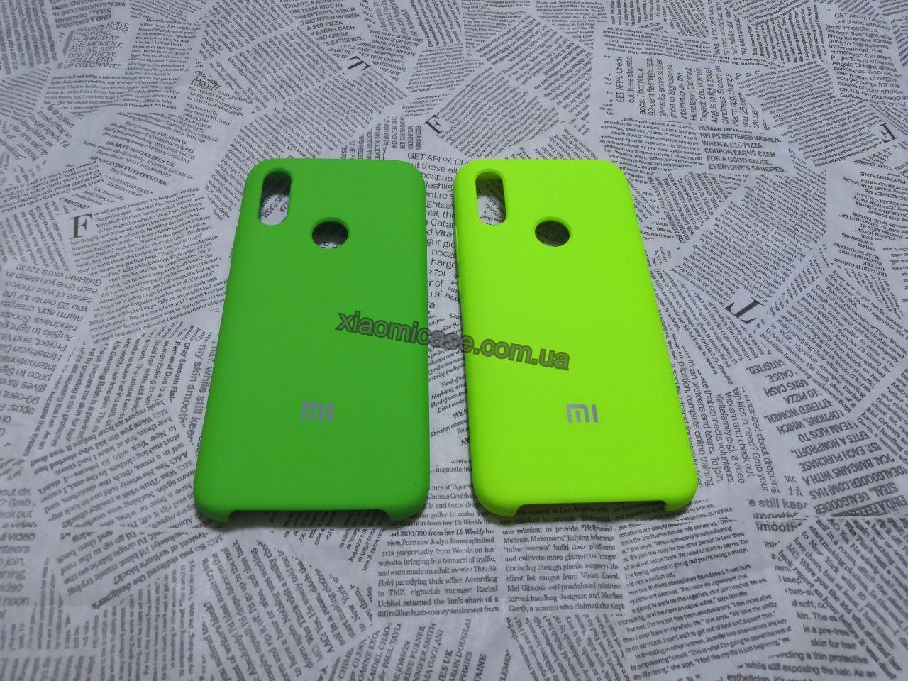 Брендовый Soft-touch чехолSilicone Cover для Xiaomi (Ксиоми) Redmi 7 (Зеленый и Лайм)