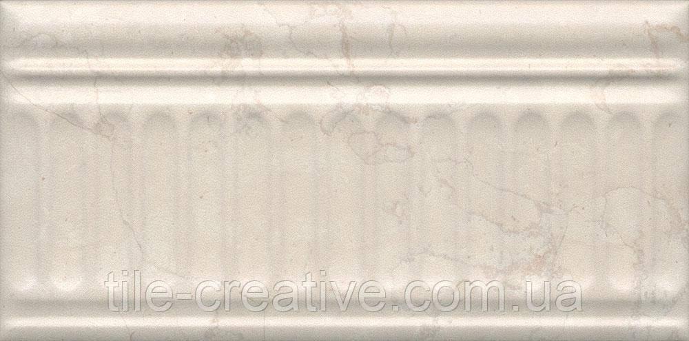 Керамическая плитка Бордюр Резиденция беж структурированный 20х9,9х9,2 19027\3F