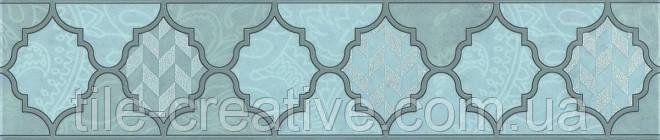 Керамическая плитка Бордюр Фоскари бирюзовый 25х5,4х8 OP\A27\6331