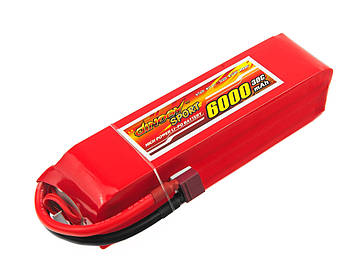 Акумулятор для радіокерованої моделі Dinogy Li-Pol 6000 мАг 14.8 В 40x41x162 мм T-Plug 30C