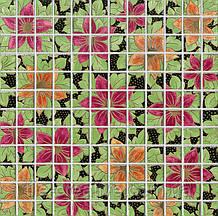 Керамічна плитка мозаїчний Декор Танець квітів DT26
